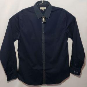 EXPRESS Shirt Size L 16-16 1/2 Blue